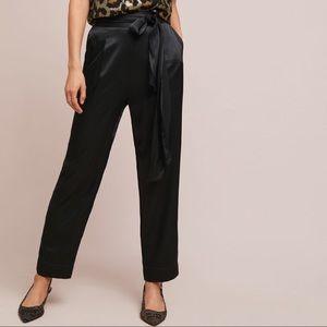 Anthropologie Satin Tie-Waist Pants, limited qty